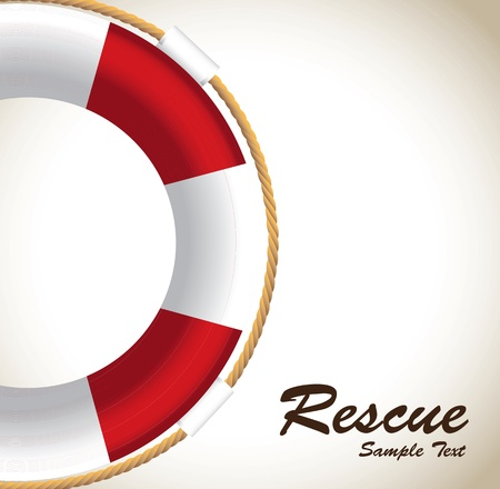 lifeguards to rescue over white background vector illustration  Vector