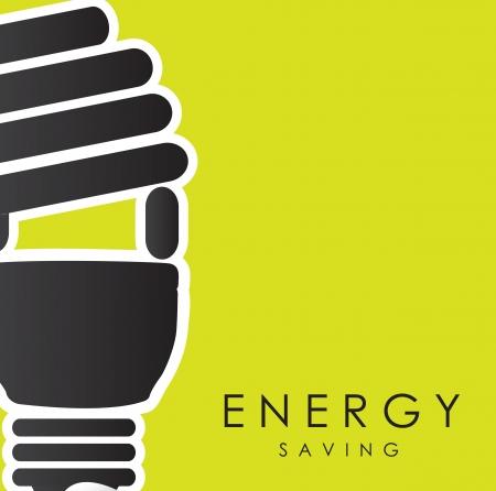 thrift: El ahorro de energ�a a trav�s de la ilustraci�n vectorial de fondo verde