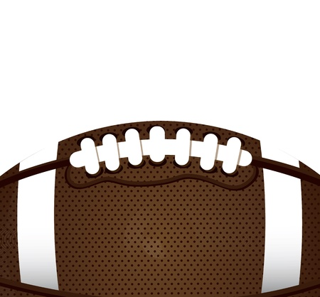football object: ball of American football over white background vector illustration