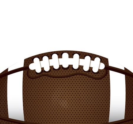 football play: palla di football americano su sfondo bianco, illustrazione vettoriale