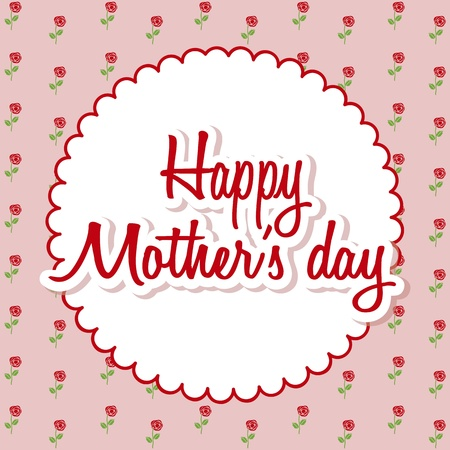happy mothers day card with roses. illustration Stock Vector - 18555460