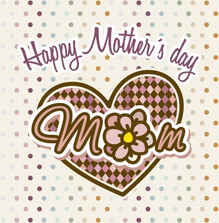 happy mothers day card with flower. illustration Stock Vector - 18555038