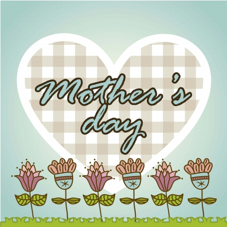 happy mothers day card with flowers. illustration Stock Vector - 18555329