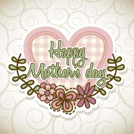 day care: madri felici day card con fiori. illustrazione