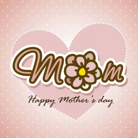 happy mothers day card with flower. illustration Stock Vector - 18555420