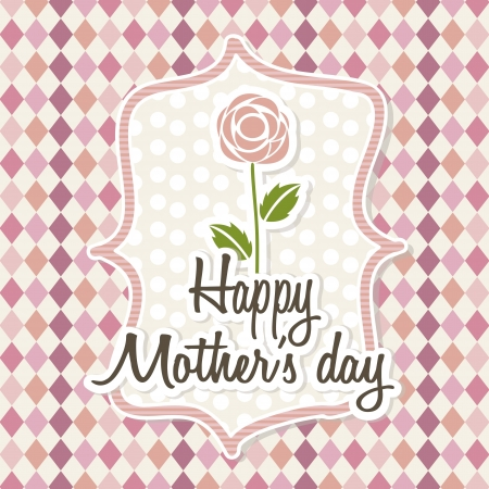 happy mothers day card with roses. illustration Stock Vector - 18555049