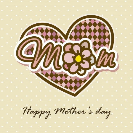 happy mothers day card with flowers. illustration Stock Vector - 18555350
