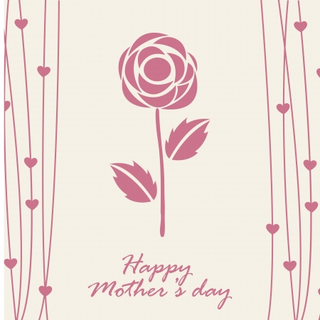 happy mothers day card with rose. illustration Stock Vector - 18555008