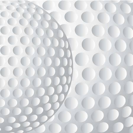 pelota de golf: pelota de golf con textura de fondo, de cerca. ilustraci�n Vectores