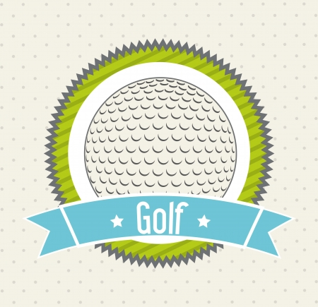 golf ball over beige background. illustration Vector