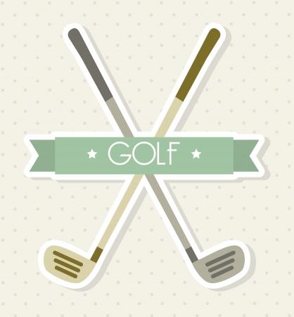 golfclubs over beige achtergrond. vector illutration Vector Illustratie