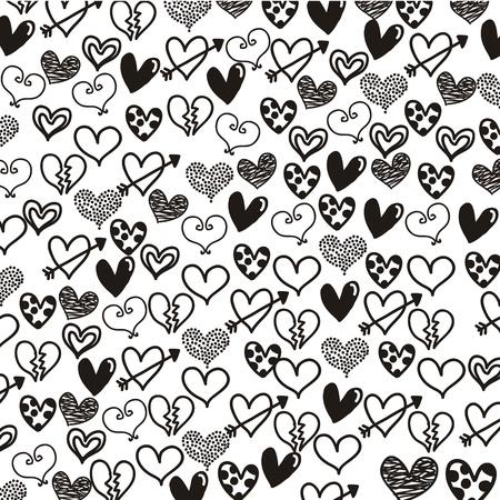corazones sobre fondo blanco. ilustración