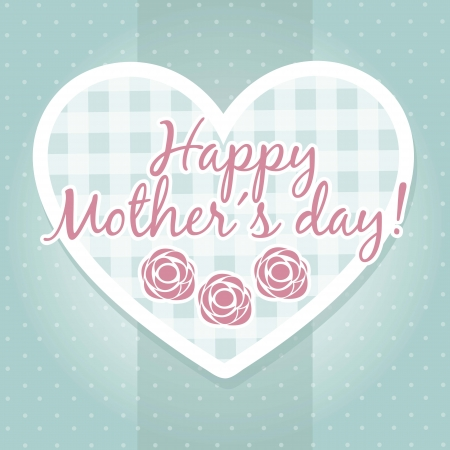 happy mothers day card with roses. illustration Stock Vector - 18555336