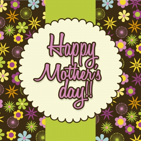 mothers day over brown background. vector illustration Vector