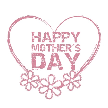 no 1: happy mothers day seal  isolated. illustration
