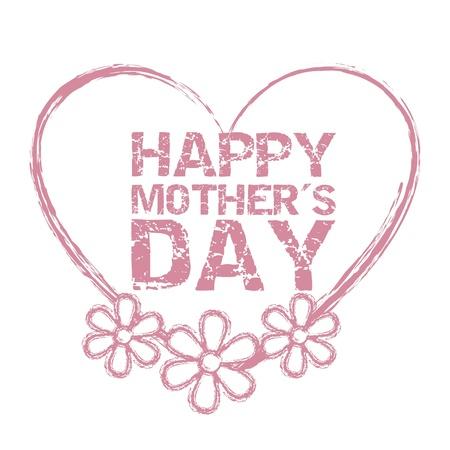 sello feliz dia de las madres aisladas. ilustración