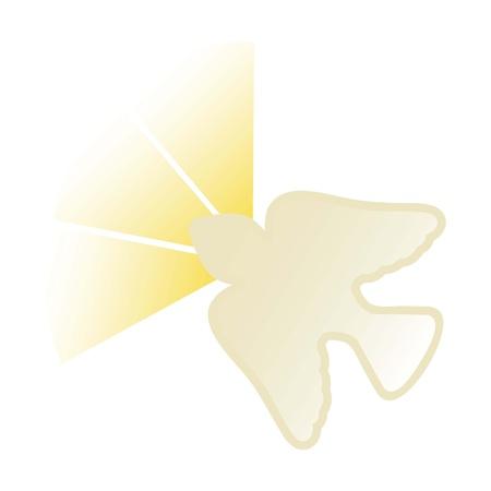 santa cena: icono Esp�ritu Santo sobre fondo blanco. ilustraci�n