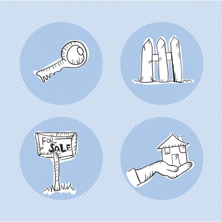 Rent Icons with different concepts (collection set) Stock Vector - 18554881
