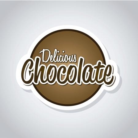 typography signature: cartas deliciosas de chocolate sobre fondo gris. vector