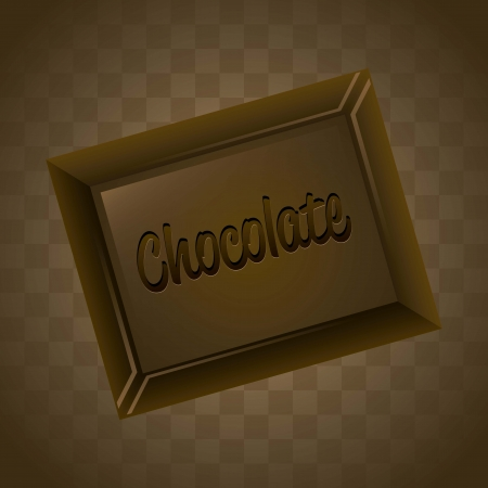 deliciously: chocolate bar over brown background. vector illustration