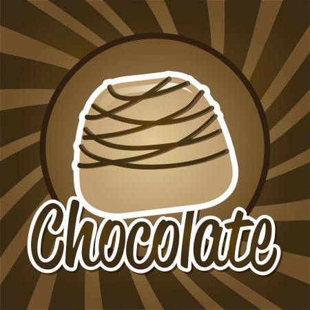mixed nuts: chocolate truffle over brown background. vector illustration Illustration