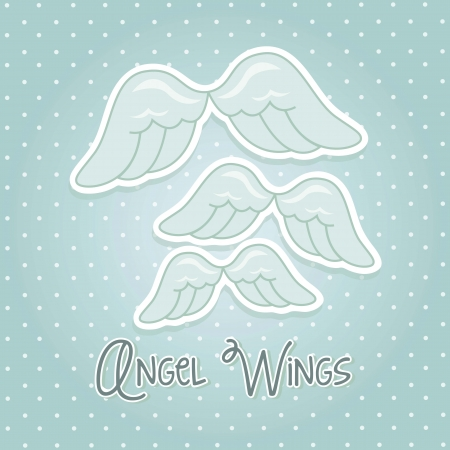 angel wings over blue background. vector illustration Vector