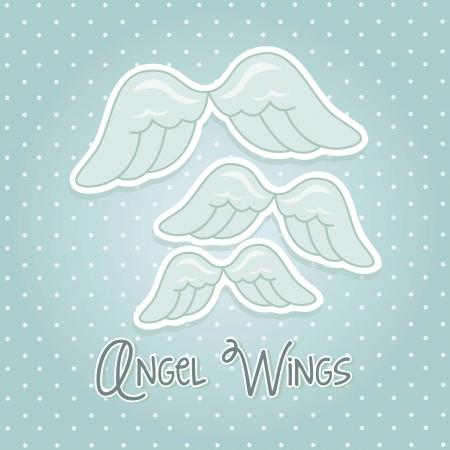 ali d'angelo su sfondo blu. illustrazione vettoriale