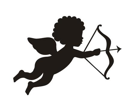amor: cupid �ber wei�em Hintergrund isoliert. Vektor-Illustration Illustration