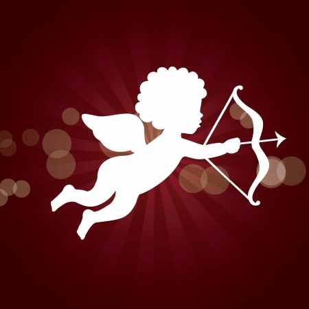 cupid isolated over red background. vector illustration Vector
