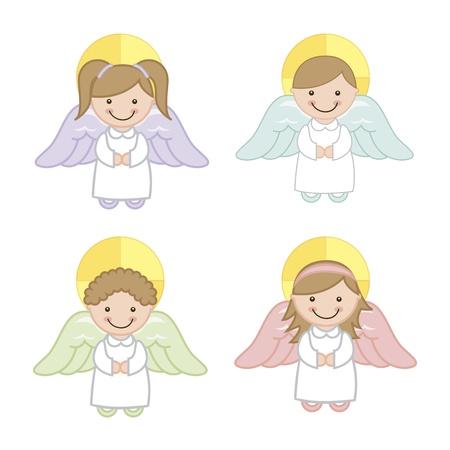 angel cartoon over white background. vector illustration Stock Vector - 18606534