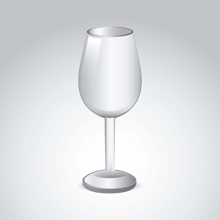 wine cup over gray background. vector illustration Stock Vector - 18606387