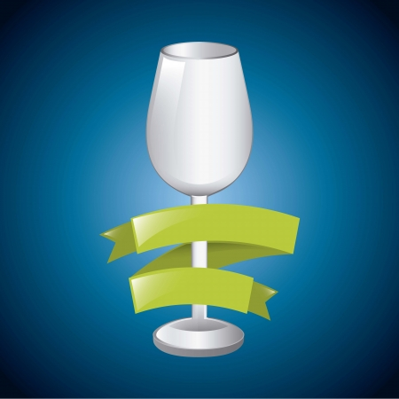 wine cup over  blue background. vector illustration Stock Vector - 18606405