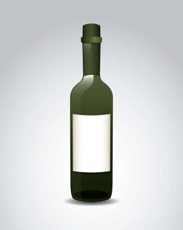 wine bottle over gray background. vector illustration Stock Vector - 18606400