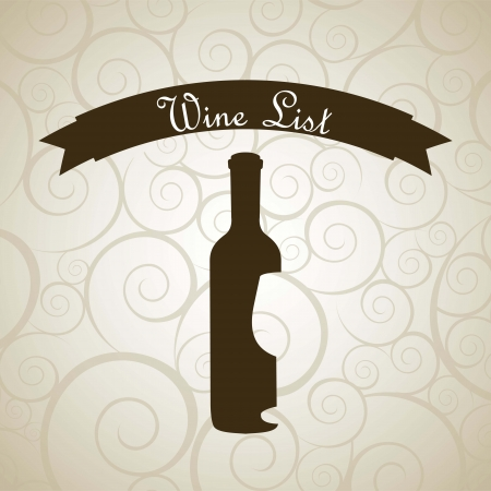 wine bottle over beige background. vector illustration Stock Vector - 18606395