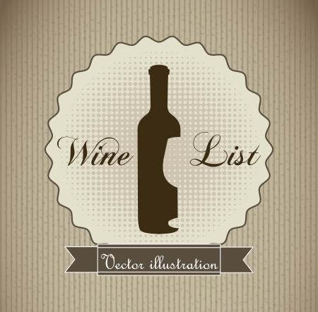 wine label over brown background. vector illustration Stock Vector - 18607083