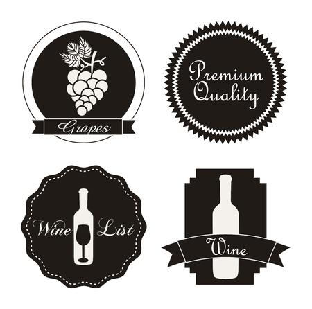 коньяк: винные этикетки на белом фоне. векторные иллюстрации