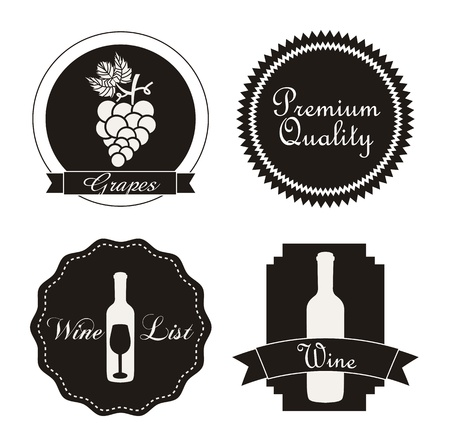 wine labels over white background. vector illustration Stock Vector - 18606392
