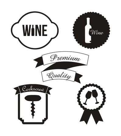 botella de whisky: etiquetas de vino sobre fondo blanco. ilustraci�n vectorial