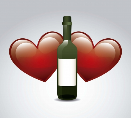 wine bottle over gray background. vector illustration Vector
