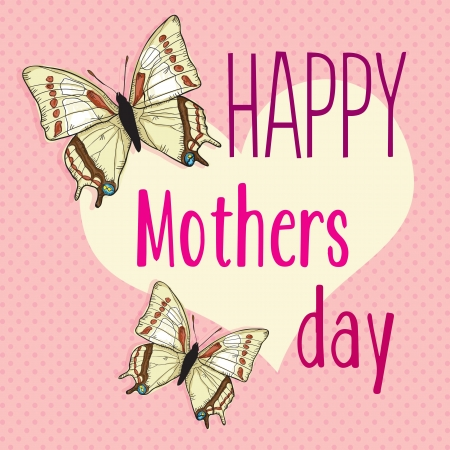 Happy Mothers Day concept, vector illustrator Vector