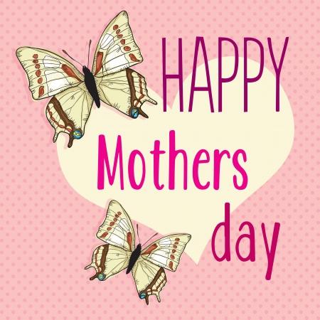 day care: Happy Mothers Day concetto, vettore illustratore