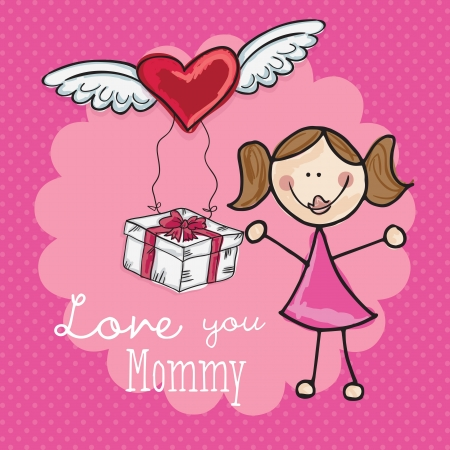 Happy Mothers Day concept, vector illustrator Stock Vector - 18606965
