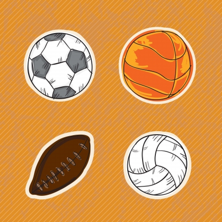 Sport Icons concept (different elements and objets) Illustration