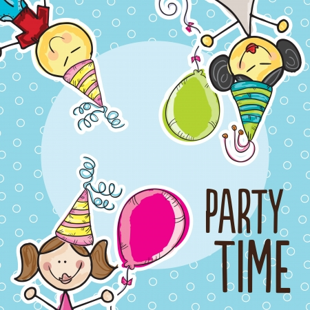 Party Time Colorful Icons ( for birthday or celebration) Stock Vector - 18607049