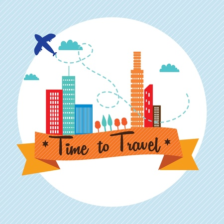 Travel and Transport Colorful Icons (collection set) Stock Vector - 18606451