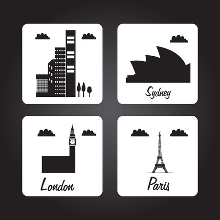 high way: Travel and Transport Colorful Icons (collection set)