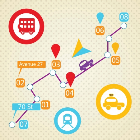 Travel and Transport Colorful Icons (collection set) Vector