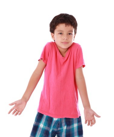 boy with outstretched hands as a sign of innocence Stock Photo - 18610289