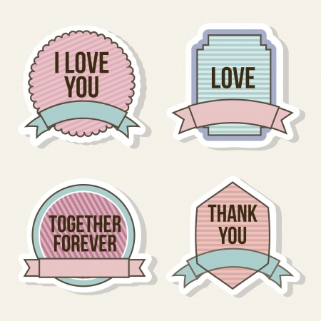 love labels over beige background. vector illustration Vector
