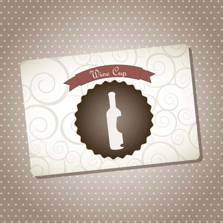 wine label over brown background. vector illustration Stock Vector - 18710315